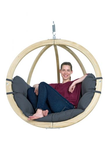 Hanging Chair 1 Person Globo Weatherproof Anthracite