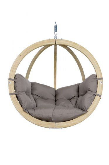 Hanging Chair 1 Person Globo Weatherproof Taupe