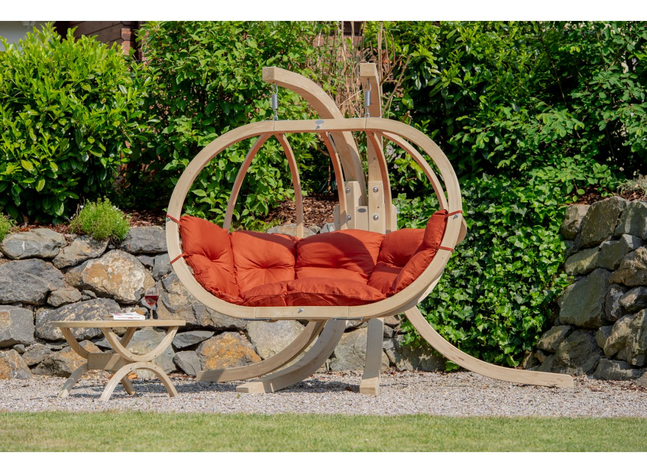 Hanging Chair with Stand Globo Royal Terracotta