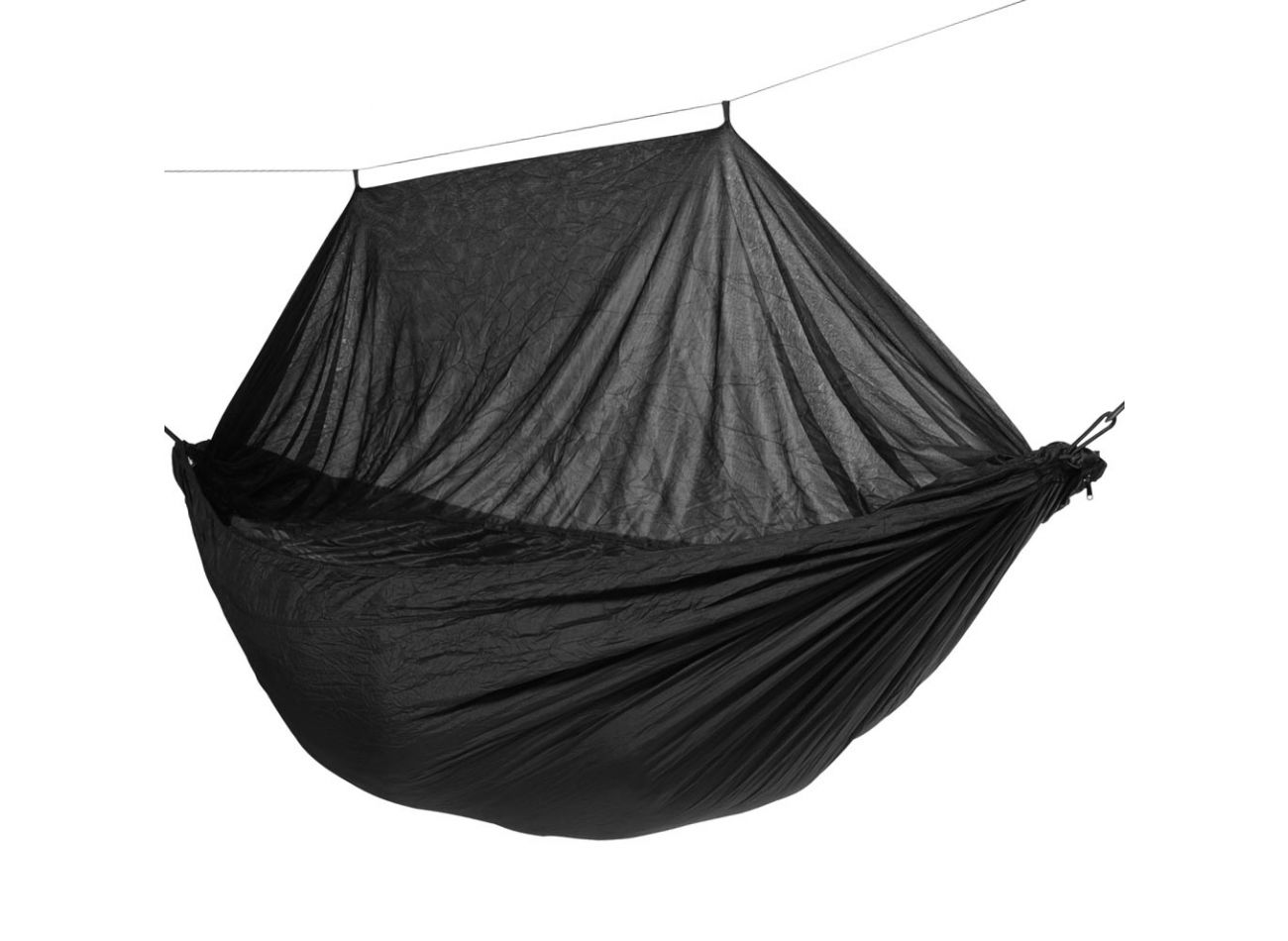 Hammock Travel 1 Person Mosquito Black