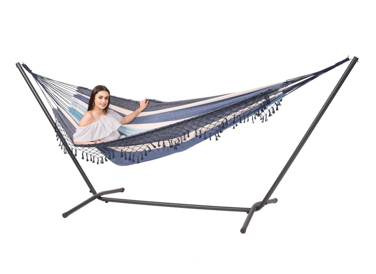 Hammock with 2 Persons Stand Easy & Tortuga Sea