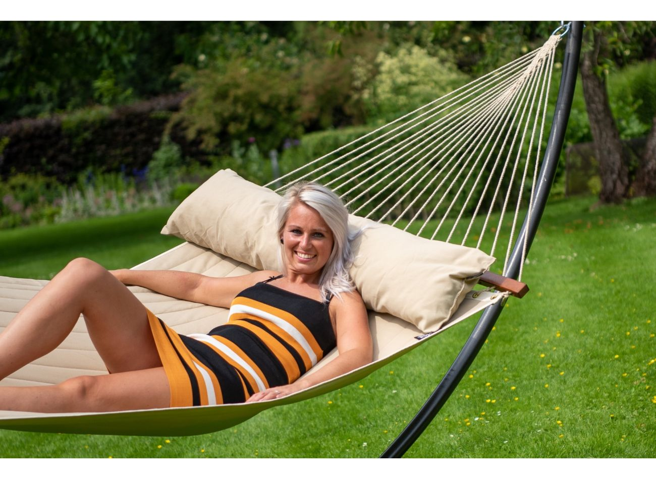 Hammock with Family Stand Arc & Vegas Taupe