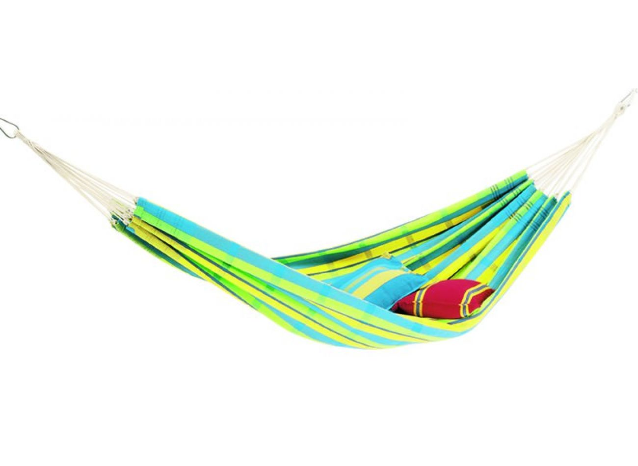 Hammock with 2 Persons Stand Wood & Barbados Lemon