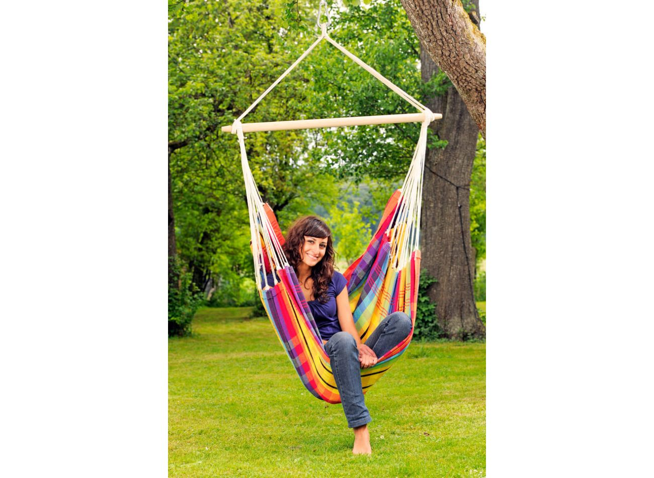 Hanging Chair 1 Person Brasil Rainbow