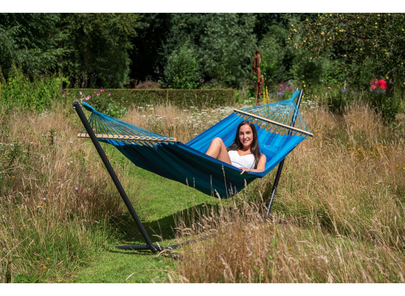 Hammock with 1 Person Stand Easy & Relax Blue