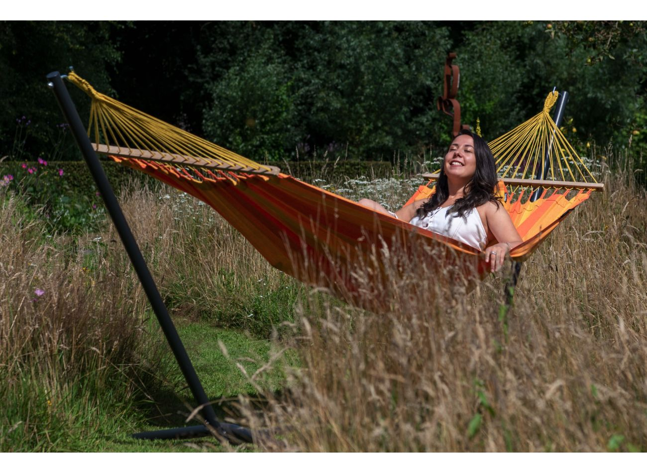 Hammock with 1 Person Stand Easy & Relax Orange