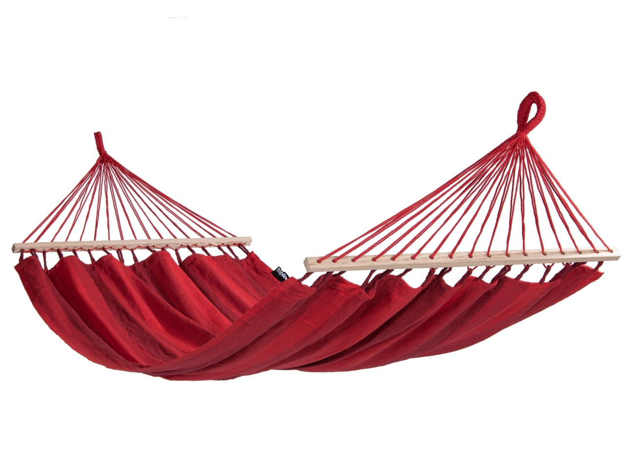 Hammock with 1 Person Stand Wood & Relax Red