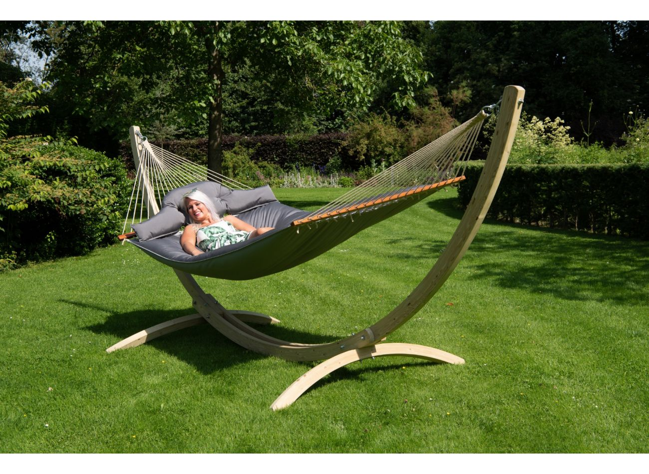 Hammock Stand Family Wood Second Chance